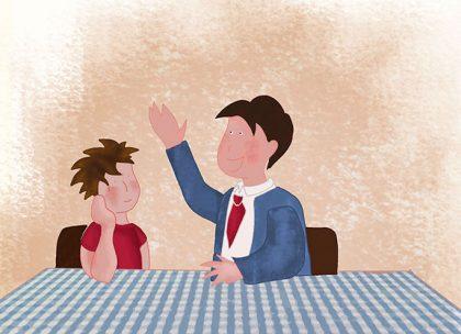 Aujourd'hui, à l'école, l'instituteur a demandé aux enfants quel était le métier de leurs parents. Oscar sait que sa maman est médecin, son papa travaille dans un bureau...